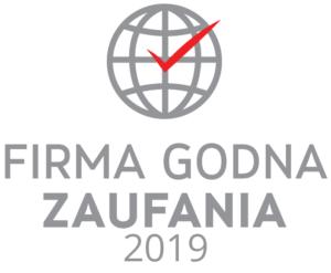 Logo Certyfikatu Firma Godna Zaufania 2019 dla LOGO - producenta odzieży roboczej