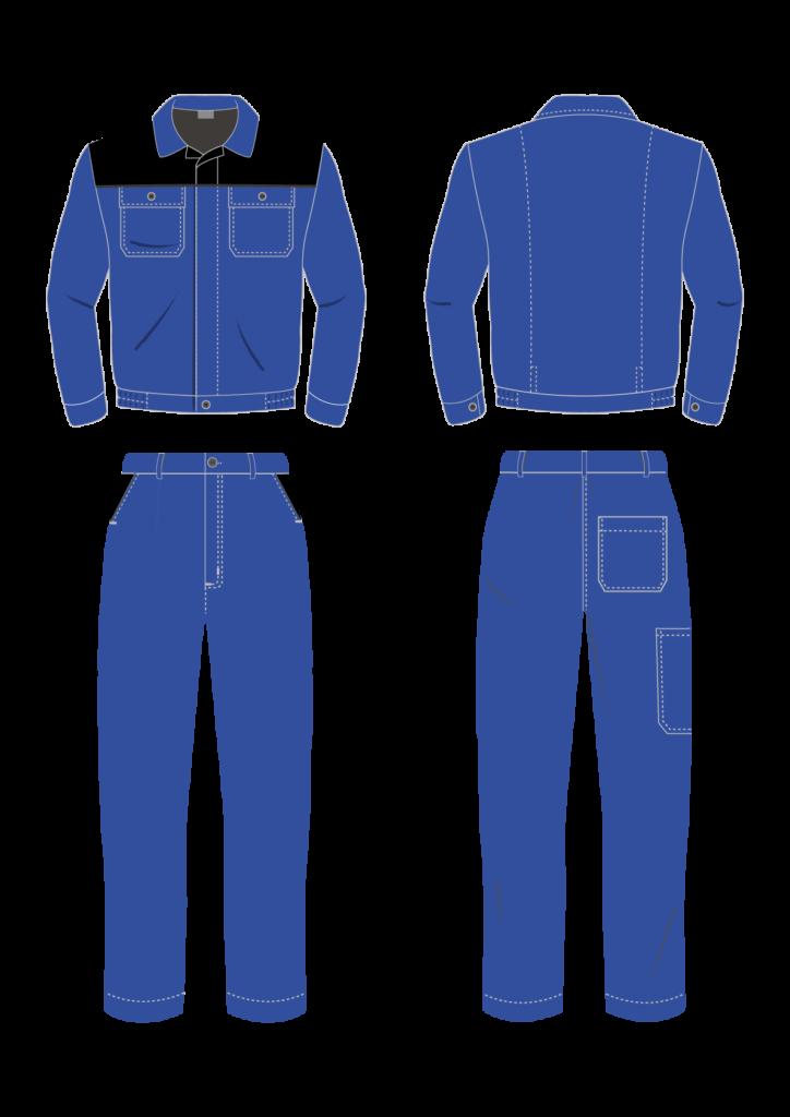 Ubranie robocze dwuczęściowe STANDARD bluza i spodnie - grafika - producent LOGO - kolor 1