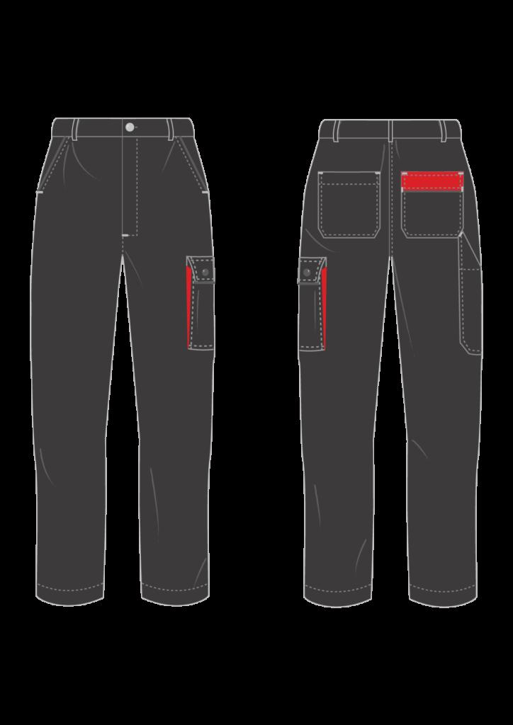 Spodnie robocze ADVANCE - grafika - producent LOGO - kolor 1