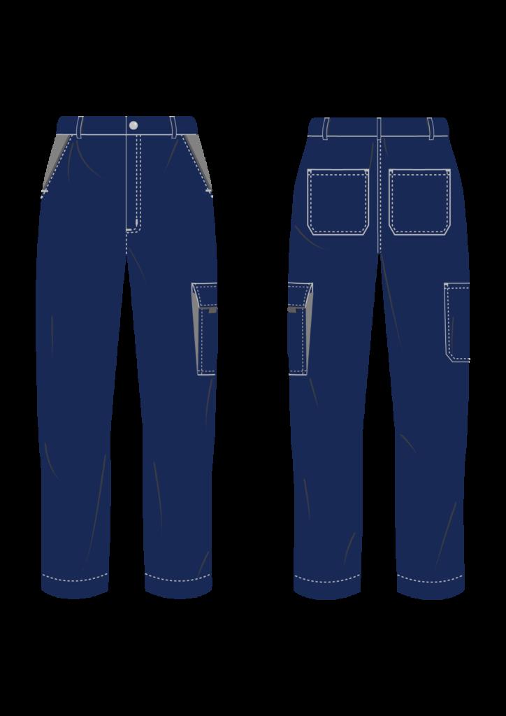 Spodnie robocze SERWIS - grafika - producent LOGO - kolor 1