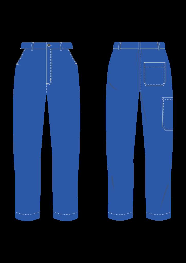 Spodnie robocze STANDARD - grafika - producent LOGO - kolor 1